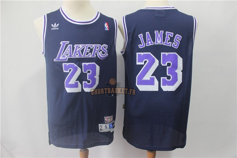 Nouveau Maillot NBA Los Angeles Lakers NO.23 Lebron James Retro Noir Pourpre pas cher