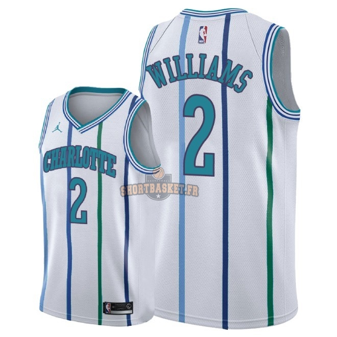 Nouveau Maillot NBA Nike Charlotte Hornets NO.2 Marvin Williams Retro Blanc 2018 pas cher