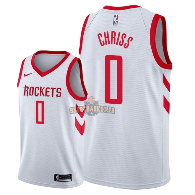 Nouveau Maillot NBA Nike Houston Rockets NO.0 Marquese Chriss Blanc Association 2018 pas cher