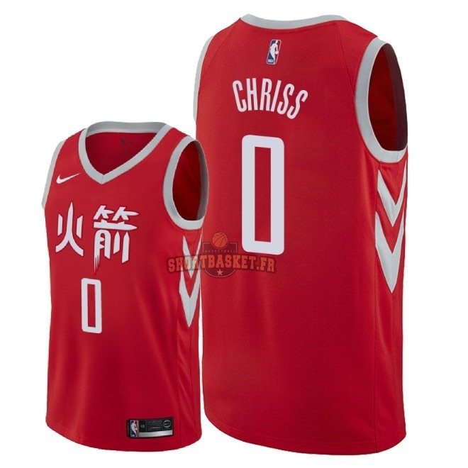 Nouveau Maillot NBA Nike Houston Rockets NO.0 Marquese Chriss Nike Rouge Ville 2018 pas cher
