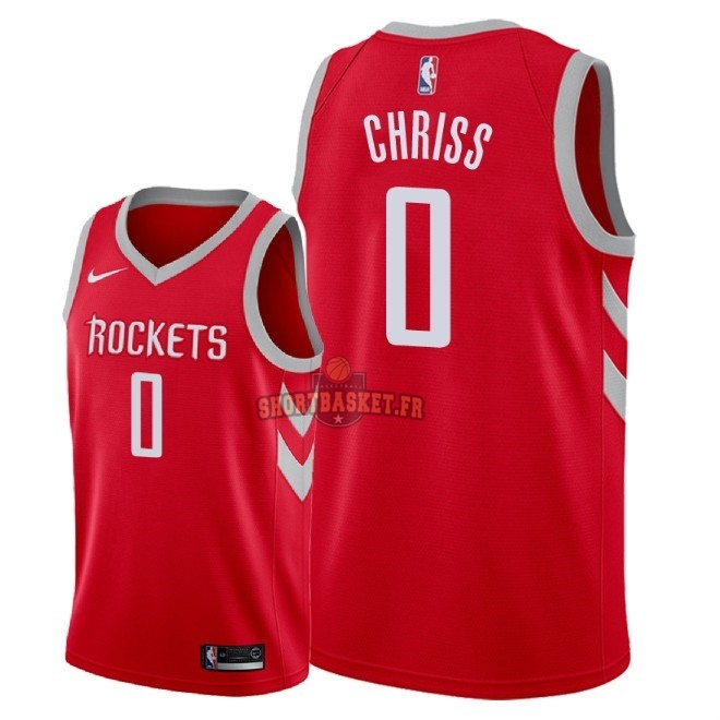 Nouveau Maillot NBA Nike Houston Rockets NO.0 Marquese Chriss Rouge Icon 2018 pas cher