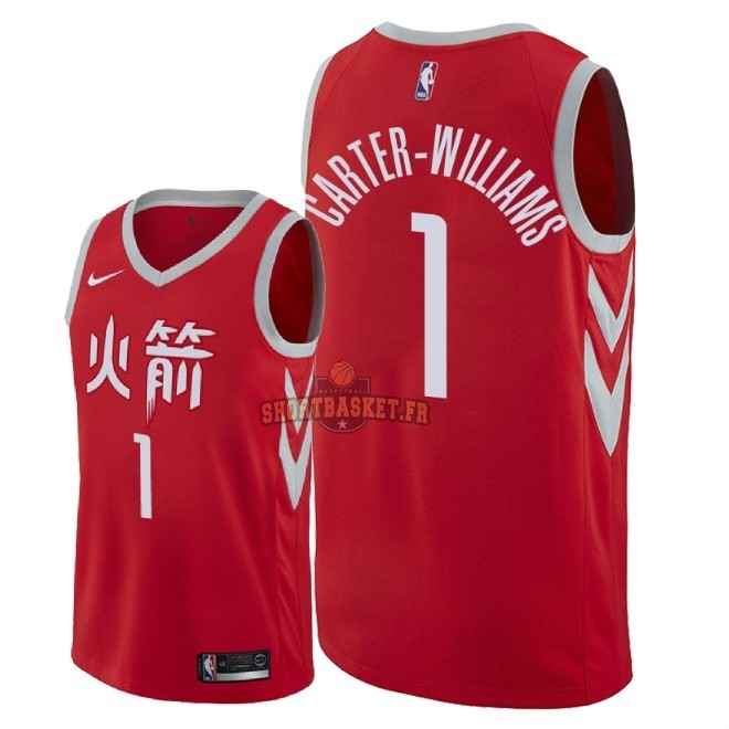 Nouveau Maillot NBA Nike Houston Rockets NO.1 Michael Carter Williams Nike Rouge Ville 2018 pas cher
