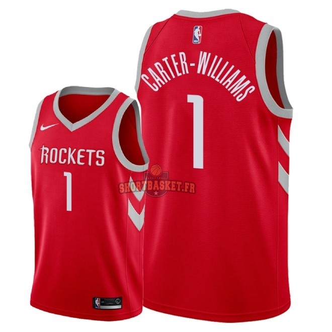 Nouveau Maillot NBA Nike Houston Rockets NO.1 Michael Carter Williams Rouge Icon 2018 pas cher