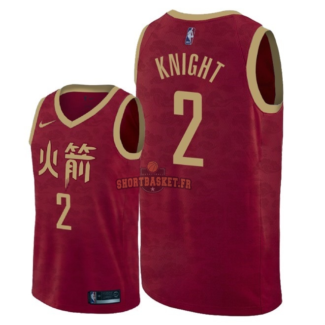 Nouveau Maillot NBA Nike Houston Rockets NO.2 Brandon Knight Nike Rouge Ville 2018-19 pas cher