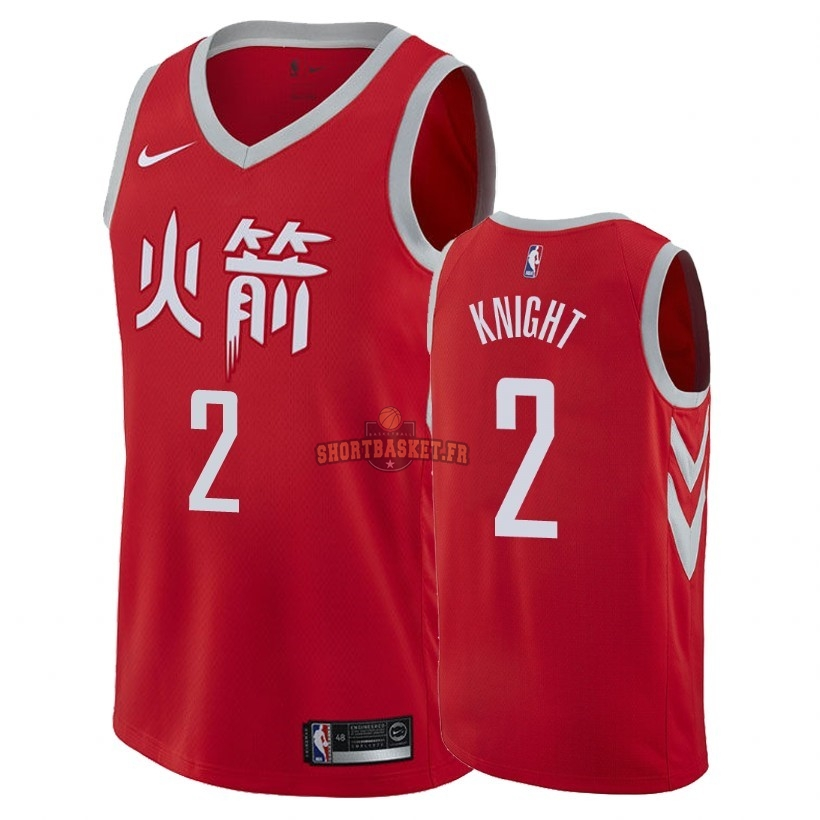 Nouveau Maillot NBA Nike Houston Rockets NO.2 Brandon Knight Nike Rouge Ville 2018 pas cher