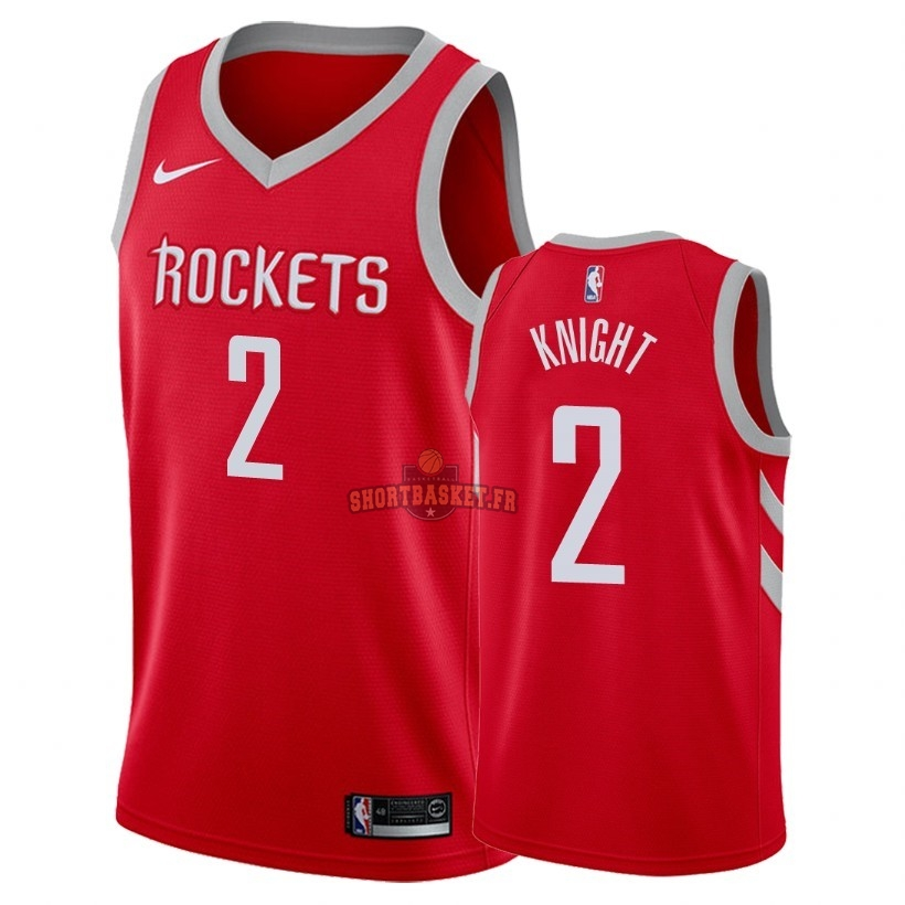 Nouveau Maillot NBA Nike Houston Rockets NO.2 Brandon Knight Rouge Icon 2018 pas cher