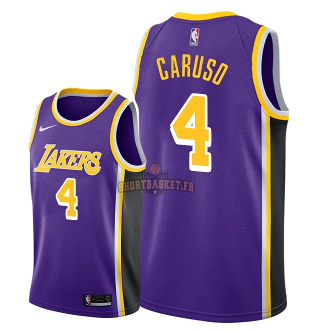 Nouveau Maillot NBA Nike Los Angeles Lakers NO.4 Alex Caruso Pourpre Statement 2018-19 pas cher