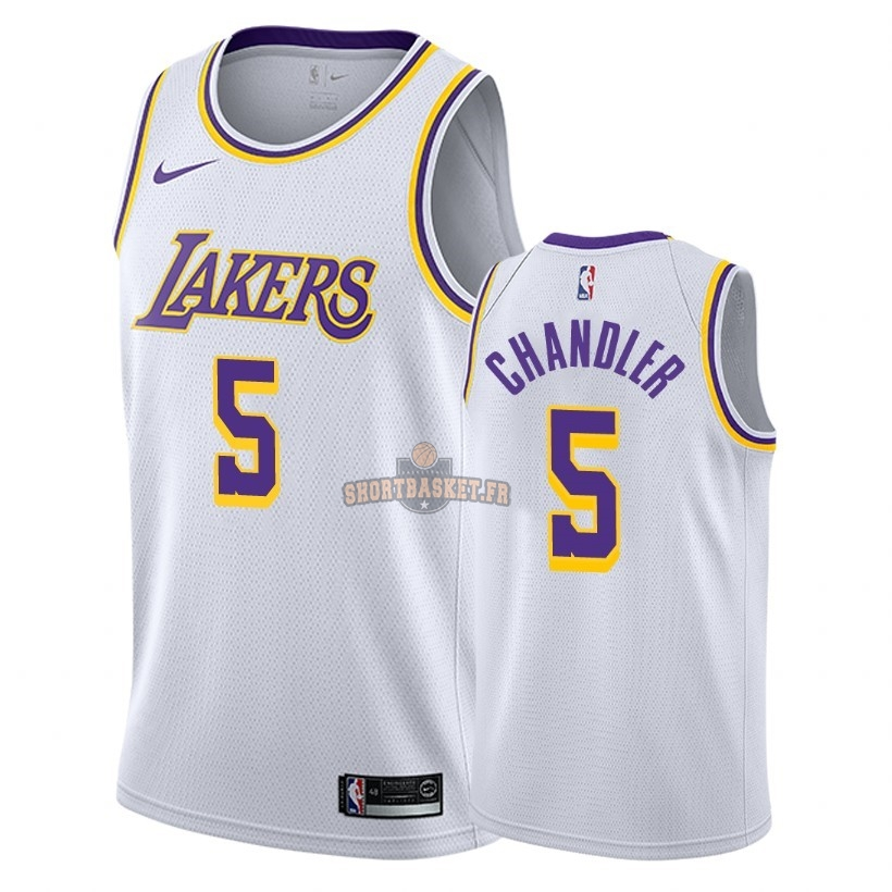 Nouveau Maillot NBA Nike Los Angeles Lakers NO.5 Tyson Chandler Blanc Association 2018-19 pas cher