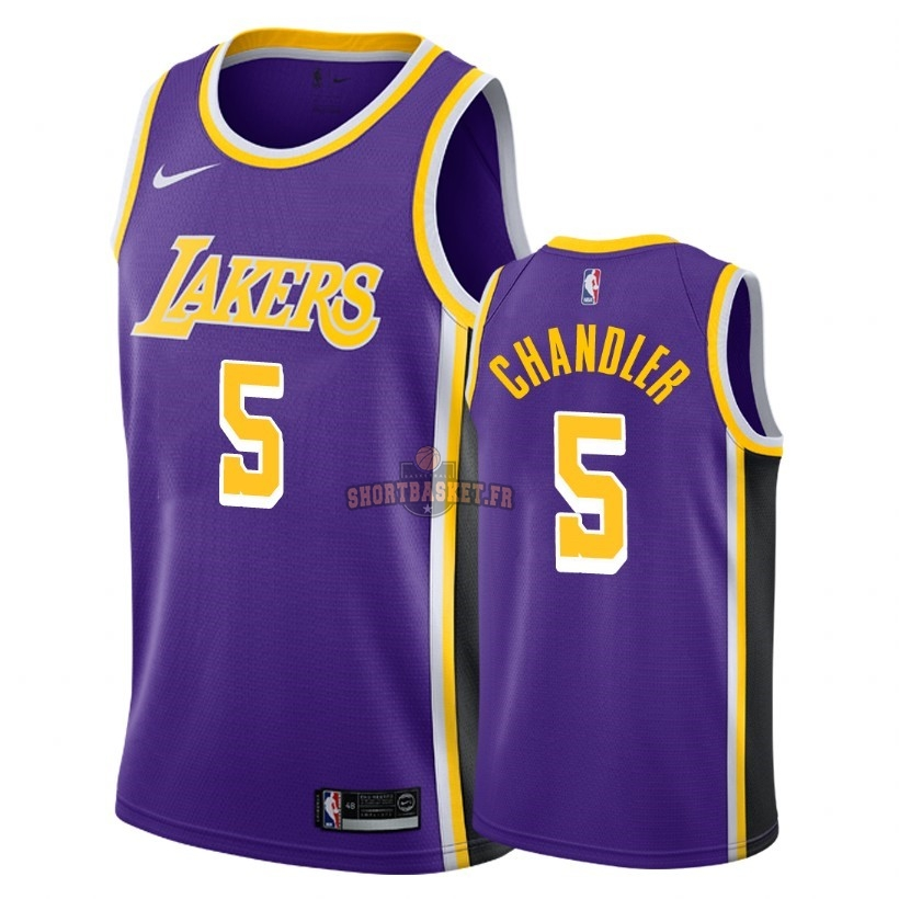 Nouveau Maillot NBA Nike Los Angeles Lakers NO.5 Tyson Chandler Pourpre Statement 2018-19 pas cher