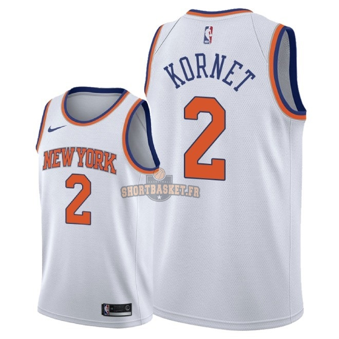 Nouveau Maillot NBA Nike New York Knicks NO.2 Luke Kornet Blanc Association 2018 pas cher