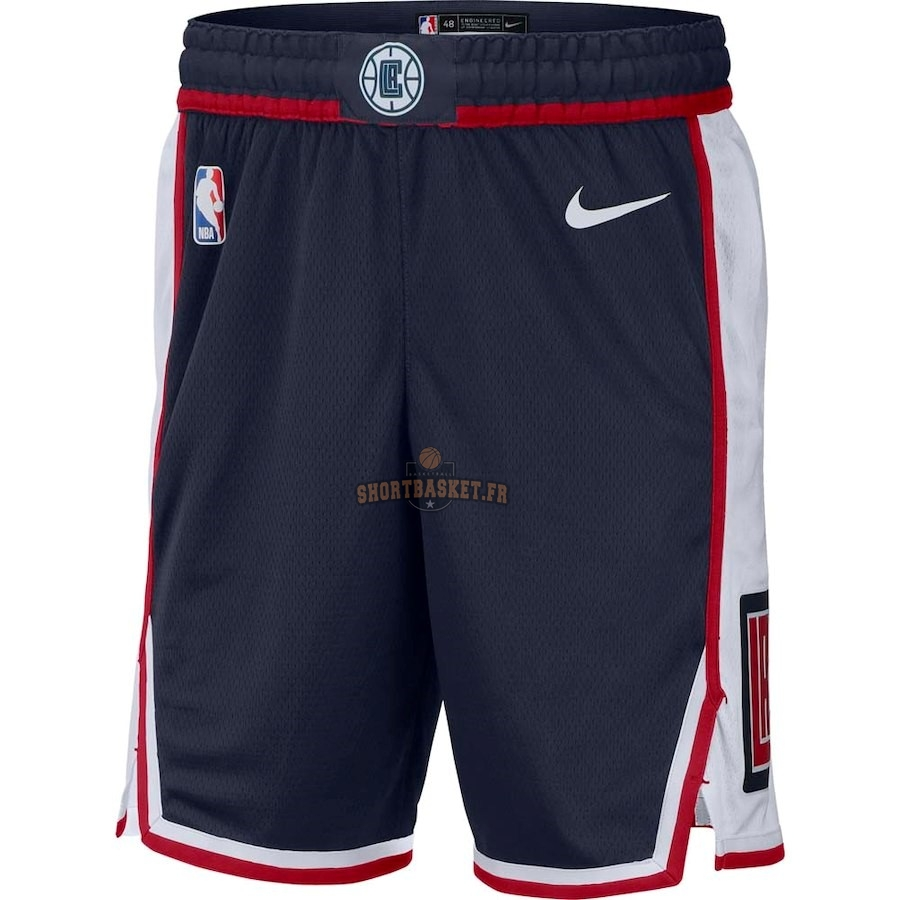 Nouveau Short Basket Los Angeles Clippers Nike Marine Ville 2018-19 pas cher