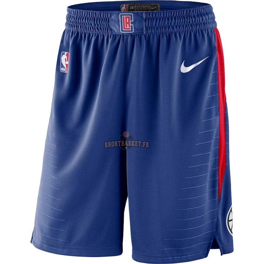 Nouveau Short Basket Los Angeles Clippers Nike Royal Bleu 2018 pas cher