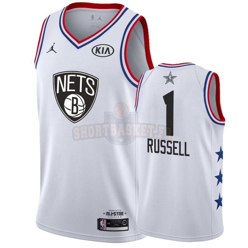 Nouveau Maillot NBA 2019 All Star NO.1 DAngelo Russell Blanc pas cher