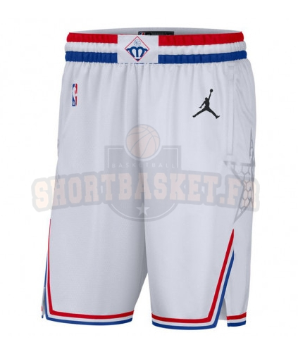 Nouveau Short Basket 2019 All Star Blanc pas cher