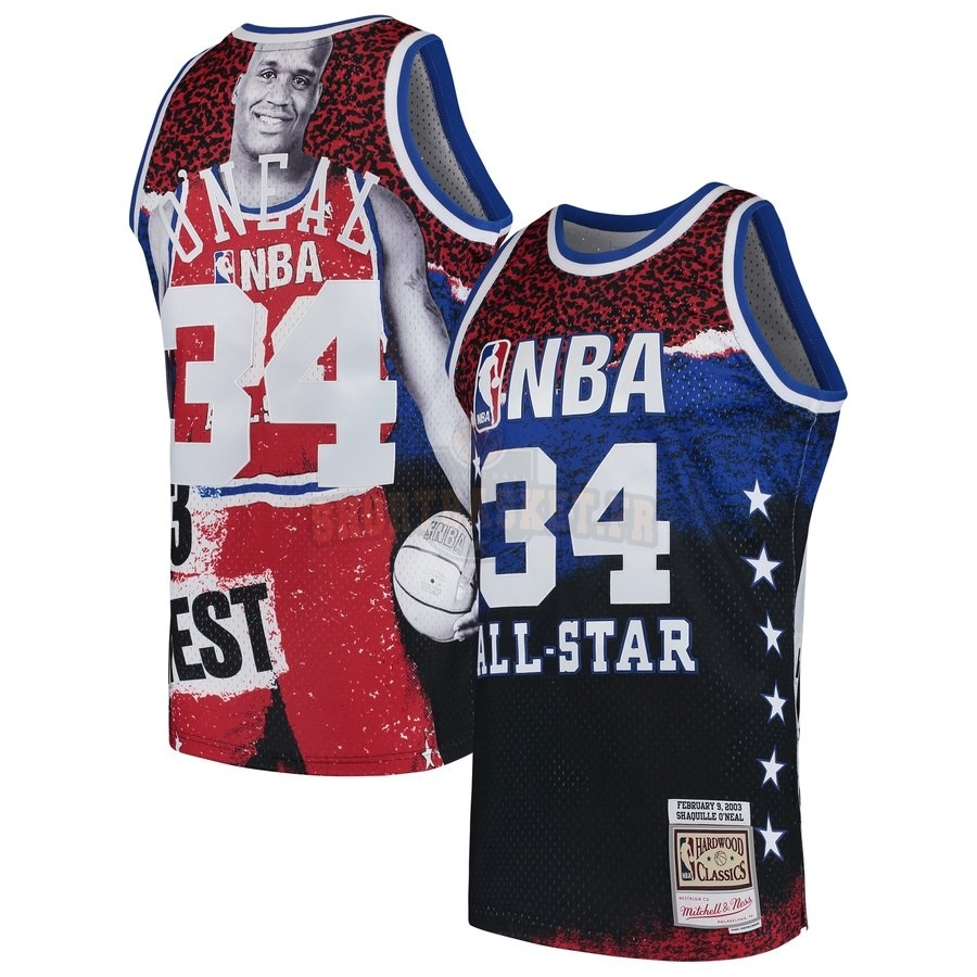 Nouveau Maillot NBA All Star 2003 NO.34 ShaquilleO'Neal Rouge pas cher