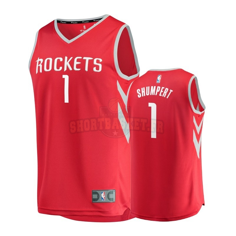 Nouveau Maillot NBA Enfant Houston Rockets NO.1 Iman Shumpert Rouge Icon pas cher