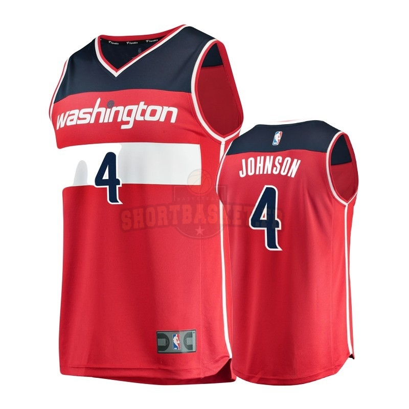 Nouveau Maillot NBA Enfant Washington Wizards NO.4 Wesley Johnson Rouge Icon pas cher