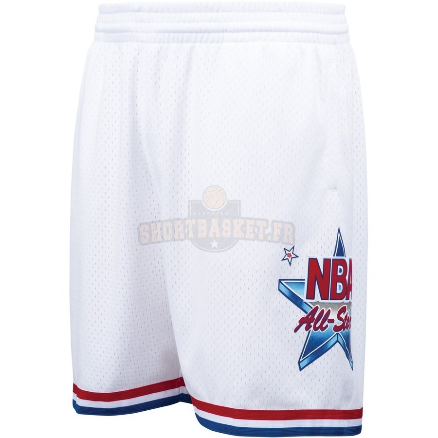 Nouveau Short Basket 1991 NBA All Star Blanc Hardwood Classics pas cher