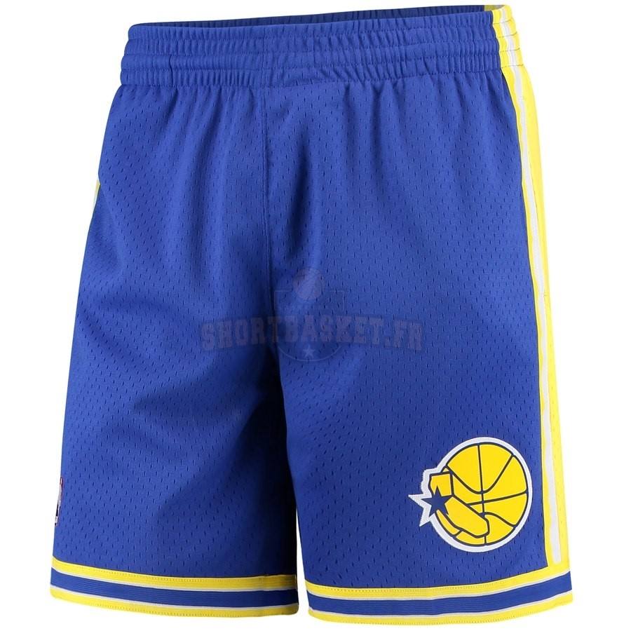 Nouveau Short Basket Golden State Warriors Bleu Hardwood Classics pas cher