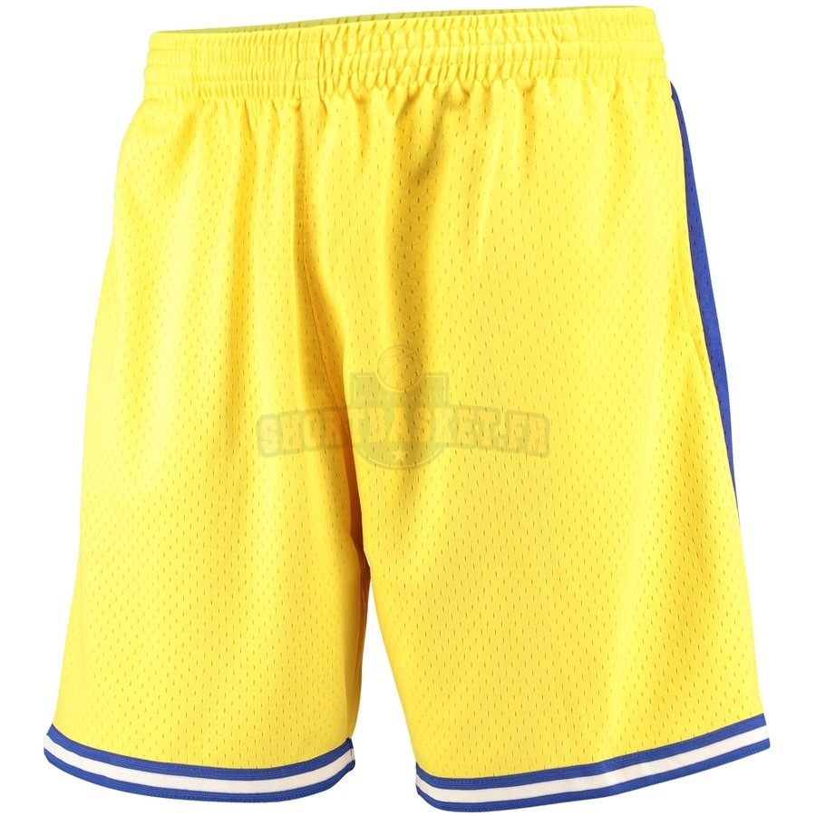 Nouveau Short Basket Golden State Warriors Jaune Hardwood Classics pas cher