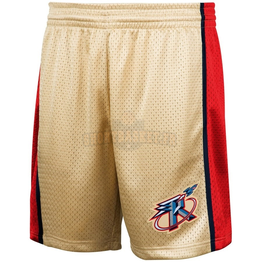 Nouveau Short Basket Houston Rockets Or Hardwood Classics pas cher