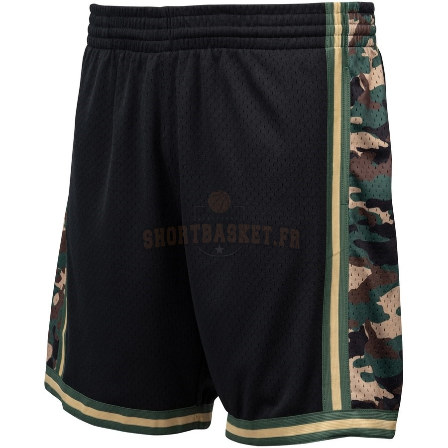 Nouveau Short Basket Los Angeles Lakers Noir Hardwood Classics pas cher