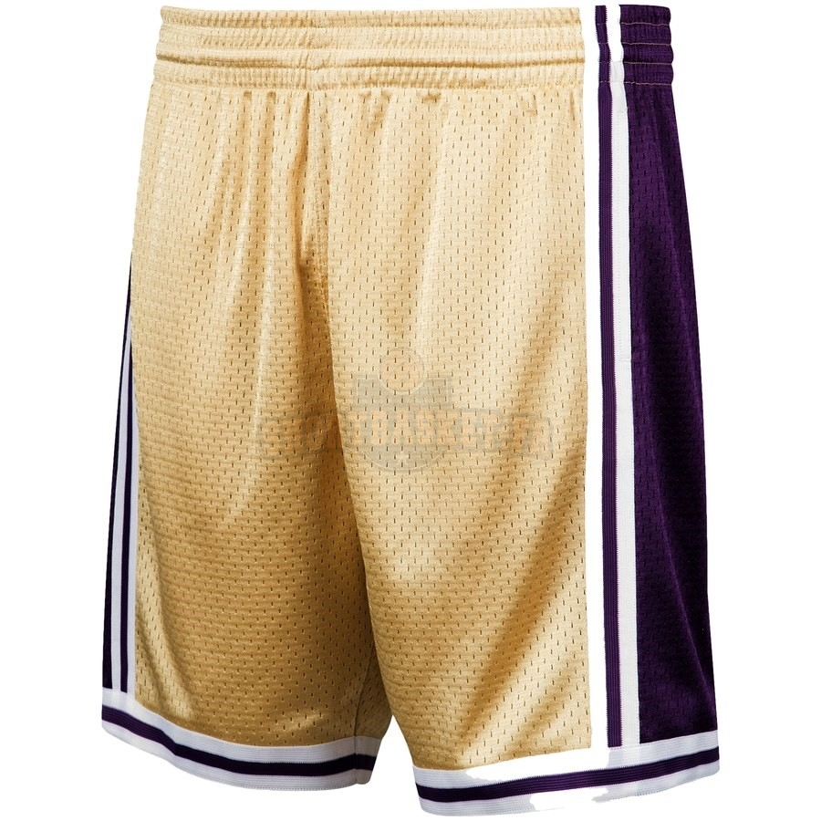 Nouveau Short Basket Los Angeles Lakers Or Hardwood Classics pas cher
