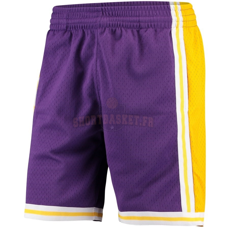 Nouveau Short Basket Los Angeles Lakers Pourpre Hardwood Classics pas cher