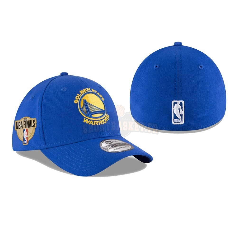 Nouveau Bonnet 2019 NBA Finals Golden State Warriors Bleu 01