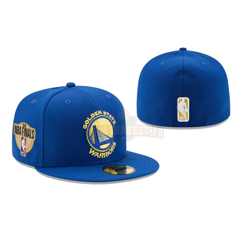 Nouveau Bonnet 2019 NBA Finals Golden State Warriors Bleu 02