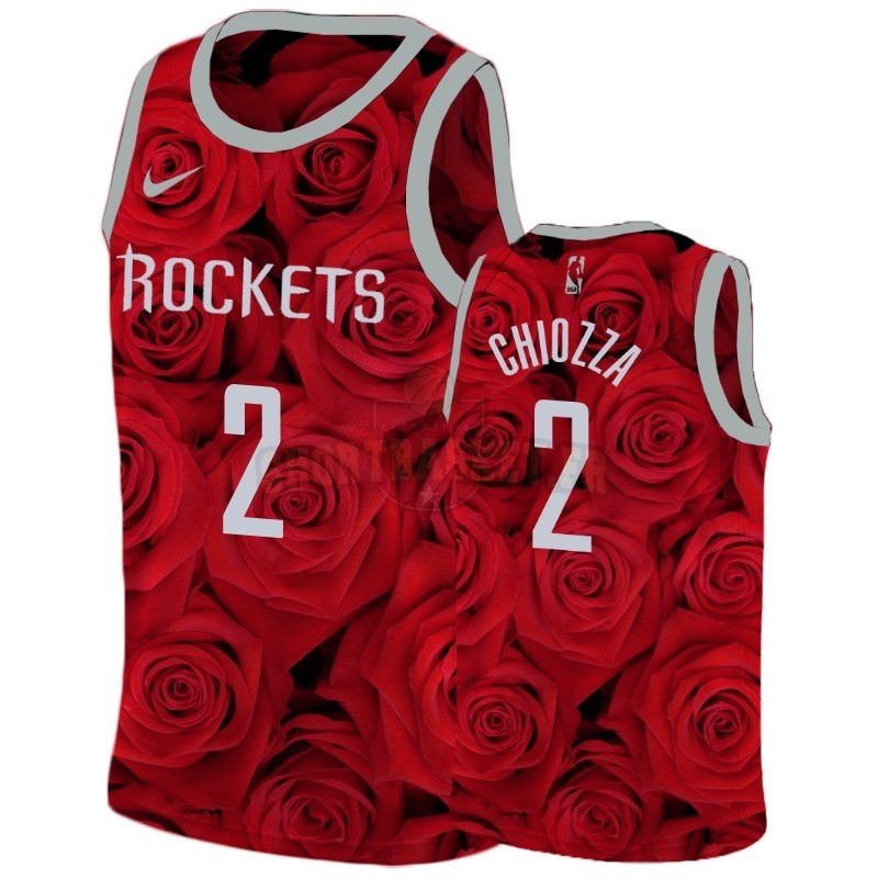 Nouveau Maillot NBA Nike Houston Rockets NO.2 Chris Chiozza Rouge