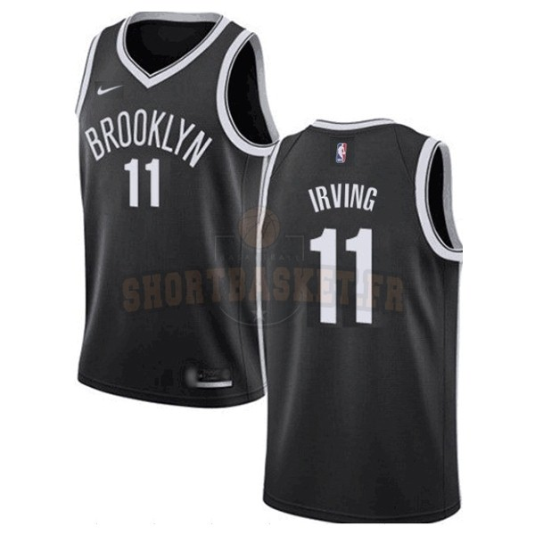 Nouveau Maillot NBA Enfant Brooklyn Nets NO.11 Kyrie Irving Noir Icon 2019-20