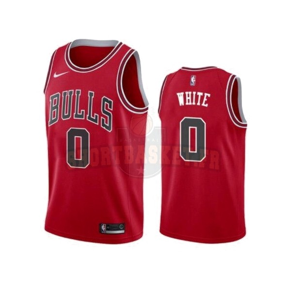 Nouveau Maillot NBA Nike Chicago Bulls NO.0 Coby White Rouge Icon 2019-20