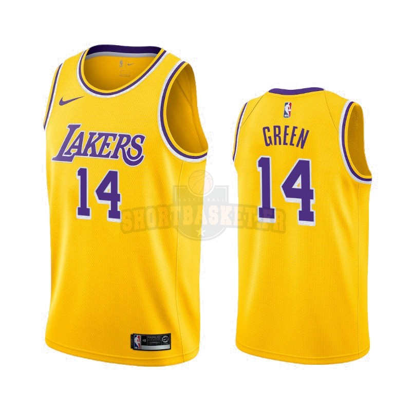 Nouveau Maillot NBA Nike Los Angeles Lakers NO.14 Danny Green Jaune Icon 2019-20