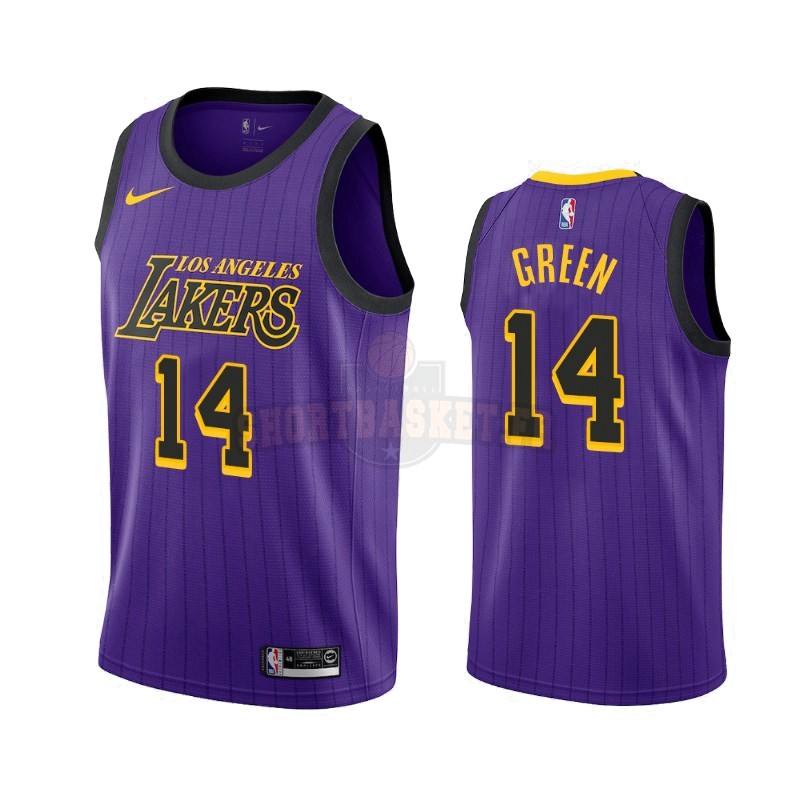 Nouveau Maillot NBA Nike Los Angeles Lakers NO.14 Danny Green Nike Pourpre Ville 2019-20