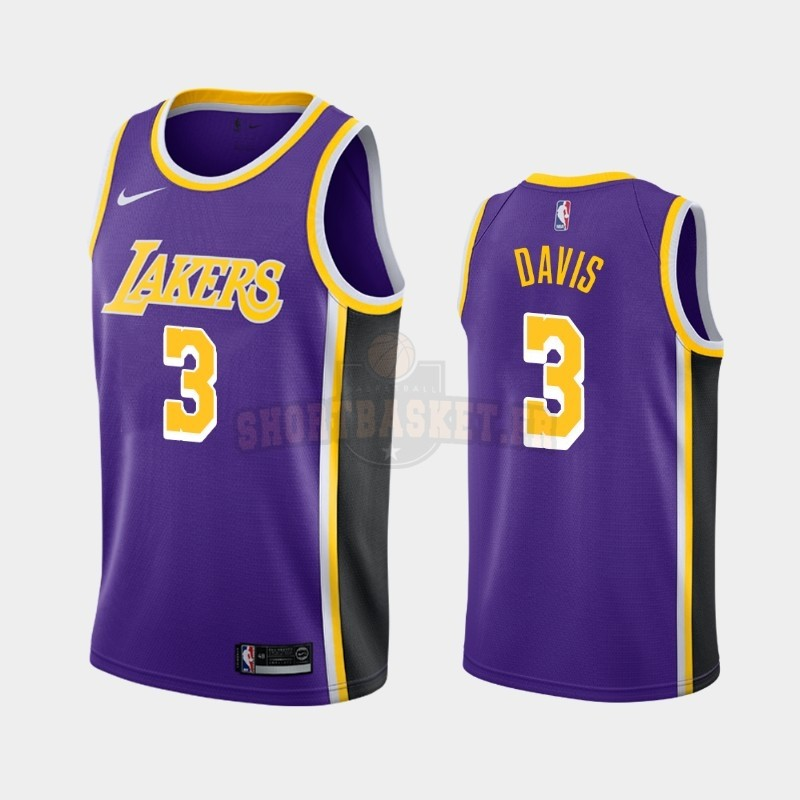 Nouveau Maillot NBA Nike Los Angeles Lakers NO.3 Anthony Davis Pourpre Statement 2019-20