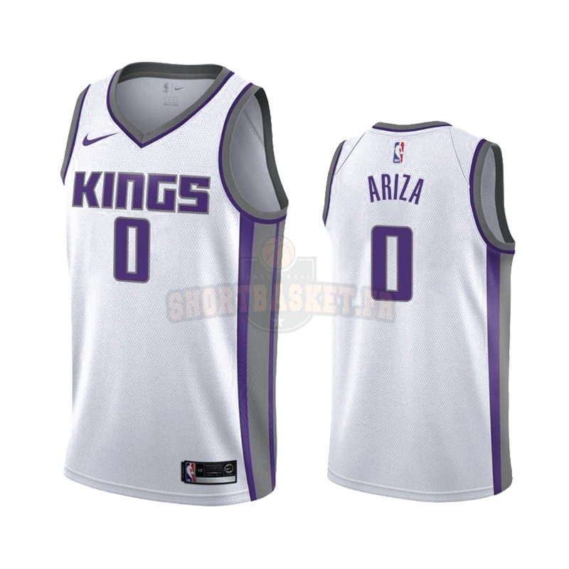 Nouveau Maillot NBA Nike Sacramento Kings NO.0 Trevor Ariza Blanc Association 2019-20