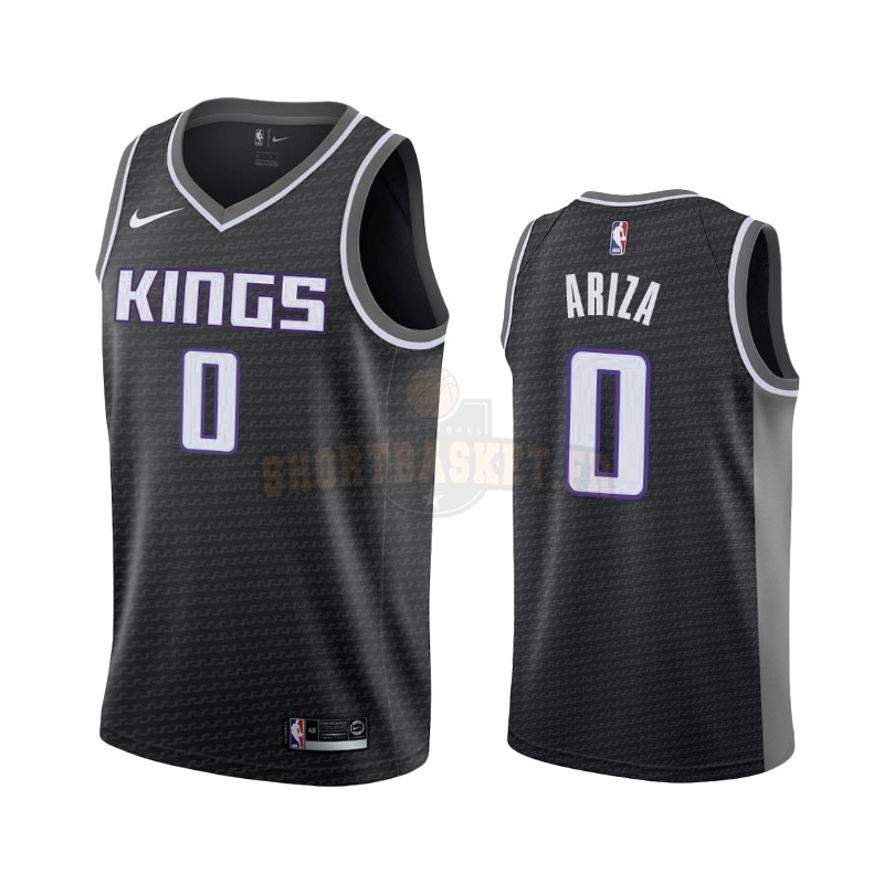 Nouveau Maillot NBA Nike Sacramento Kings NO.0 Trevor Ariza Noir Statement 2019-20