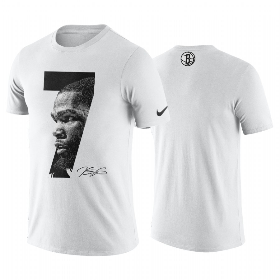 T-Shirt NBA Brooklyn Nets Kevin Durant Blanc