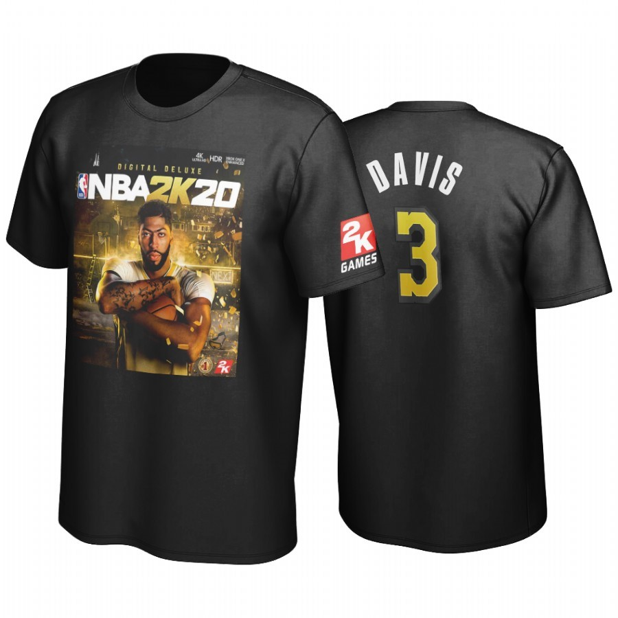 T-Shirt NBA Golden State Los Angeles Lakers Anthony Davis Noir