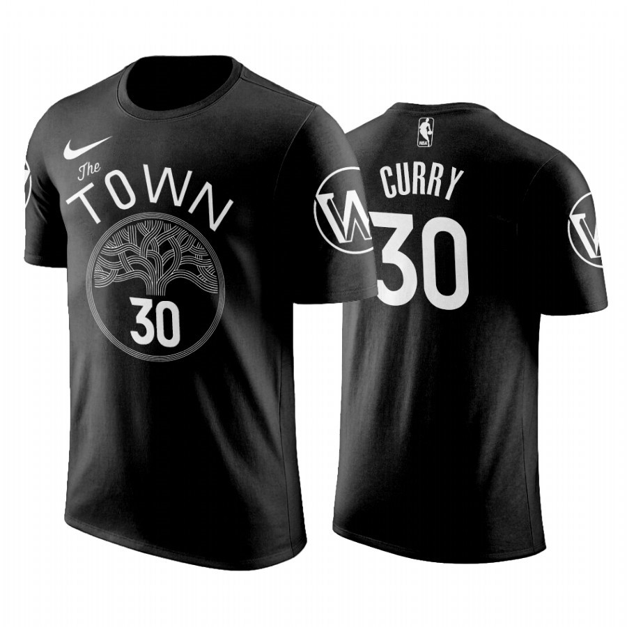 T-Shirt NBA Golden State Warriors Stephen Curry Noir