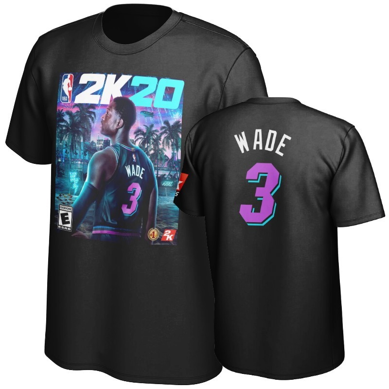 T-Shirt NBA Miami Heat Dwyane Wade Noir