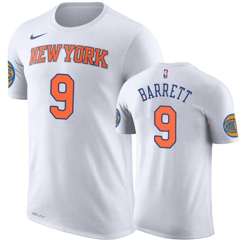 T-Shirt NBA New York Knicks R.J. Barrett Blanc Association