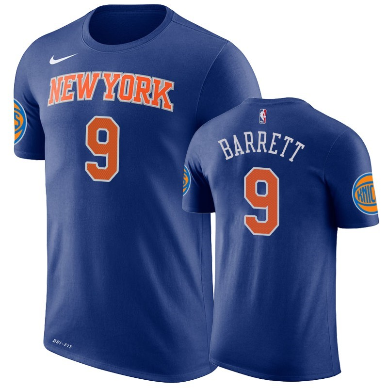 T-Shirt NBA New York Knicks R.J. Barrett Bleu