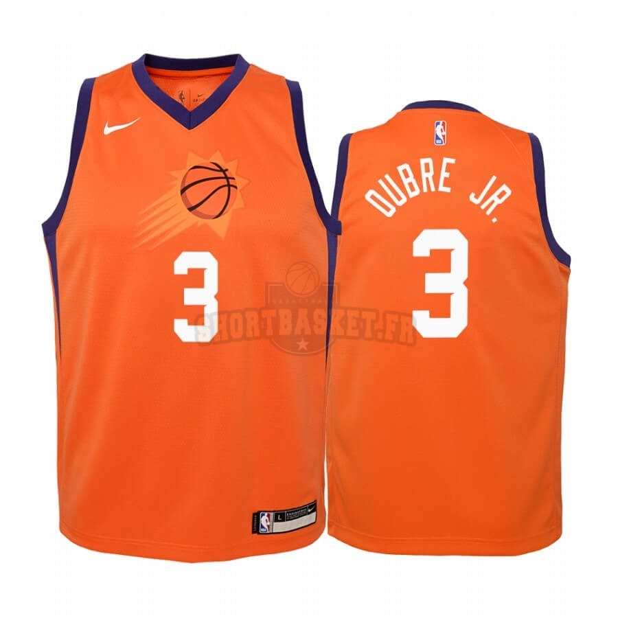 Nouveau Maillot NBA Enfant Phoenix Suns NO.3 Kelly Oubre Jr. Orange Statement 2019-20 pas cher