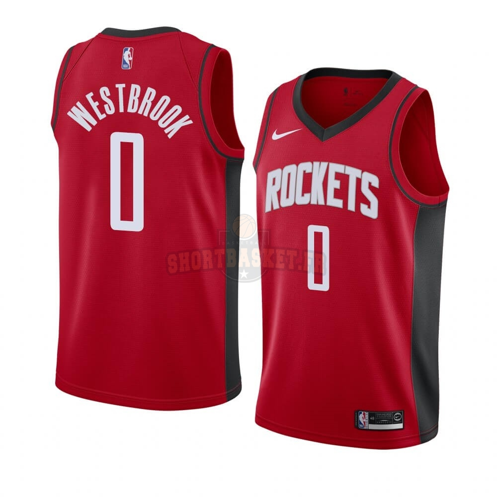 Nouveau Maillot NBA Nike Houston Rockets NO.0 Russell Westbrook Rouge Icon 2019-20 pas cher