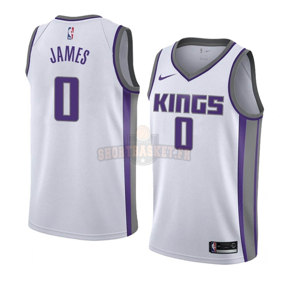 Nouveau Maillot NBA Nike Sacramento Kings NO.0 Justin James Blanc Association 2019-20 pas cher