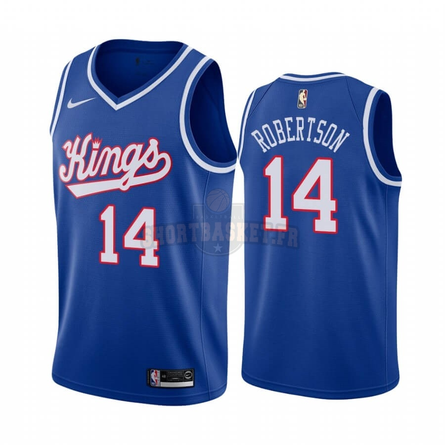 Nouveau Maillot NBA Sacramento Kings NO.14 Oscar Robertson Bleu Throwback pas cher
