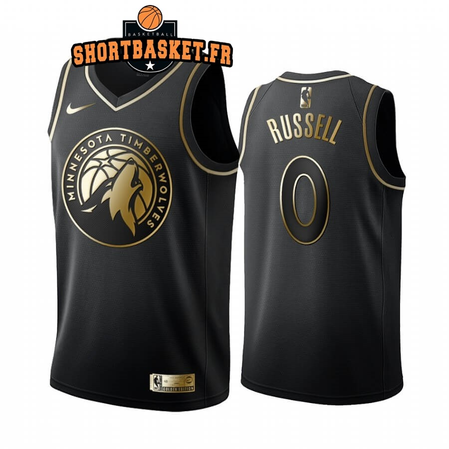 Maillot NBA Nike Minnesota Timberwolves NO.0 D'angelo Russell Or Edition 2019-20