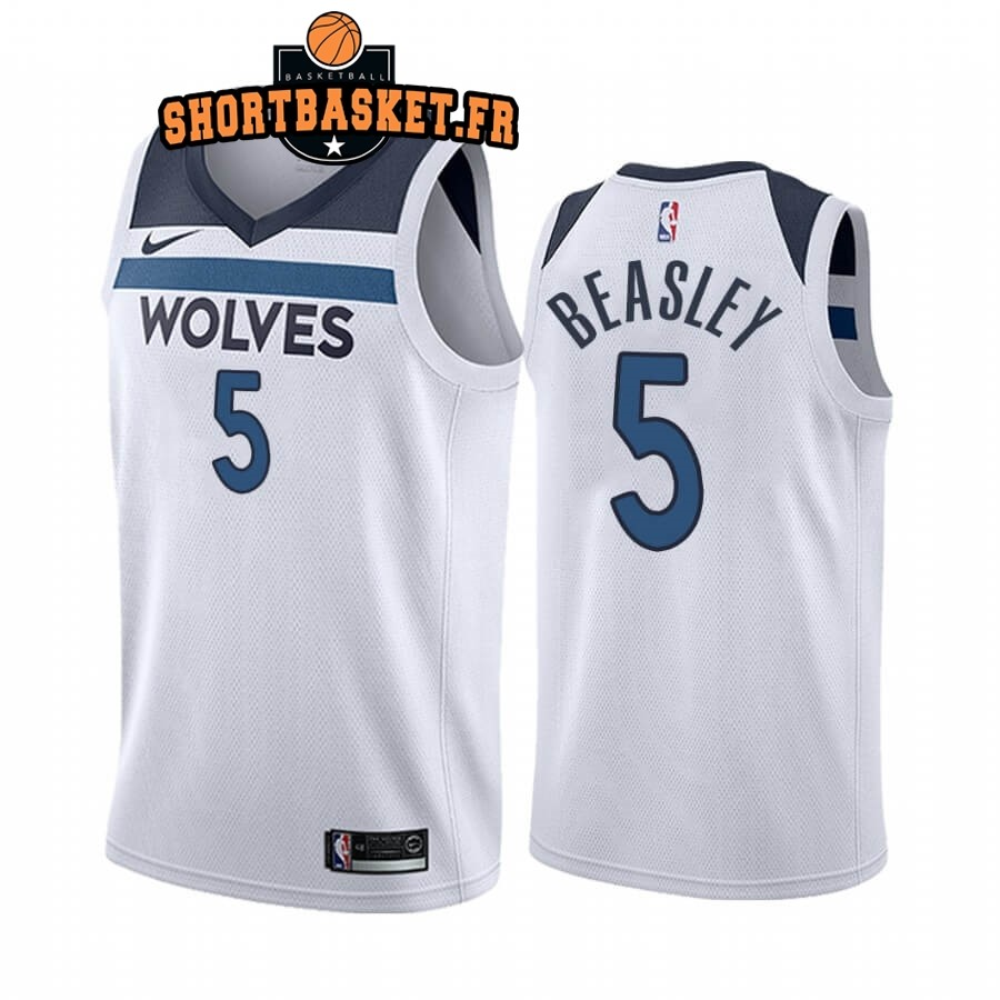 Maillot NBA Nike Minnesota Timberwolves NO.5 Malik Beasley Blanc Association 2019-20